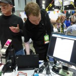 Rob H. and HacDC member mirage335 demoing BioSignal Amplifier.