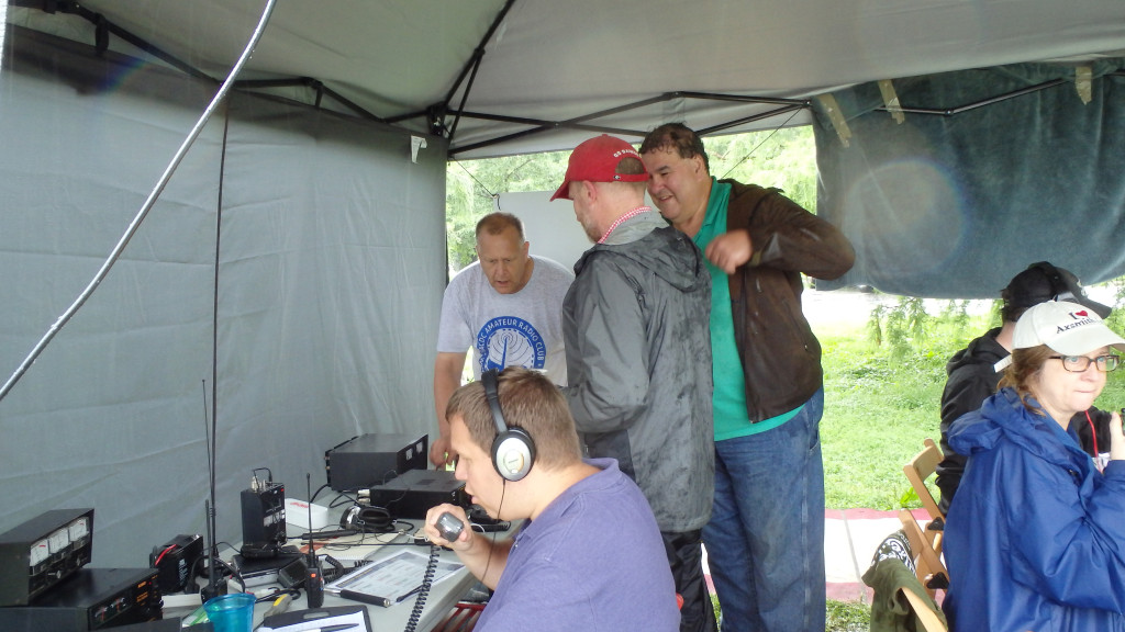 W3HAC on the air at Hains Point, Saturday, June 27, 2015